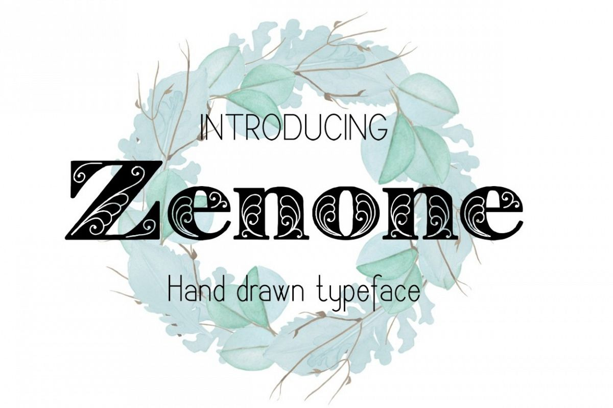 Zenone font example image 1