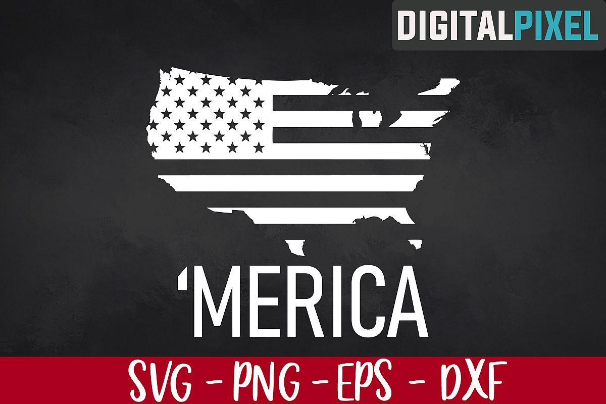 Merica Svg American Flag Design Election 2020 SVG PNG EPS example image 1