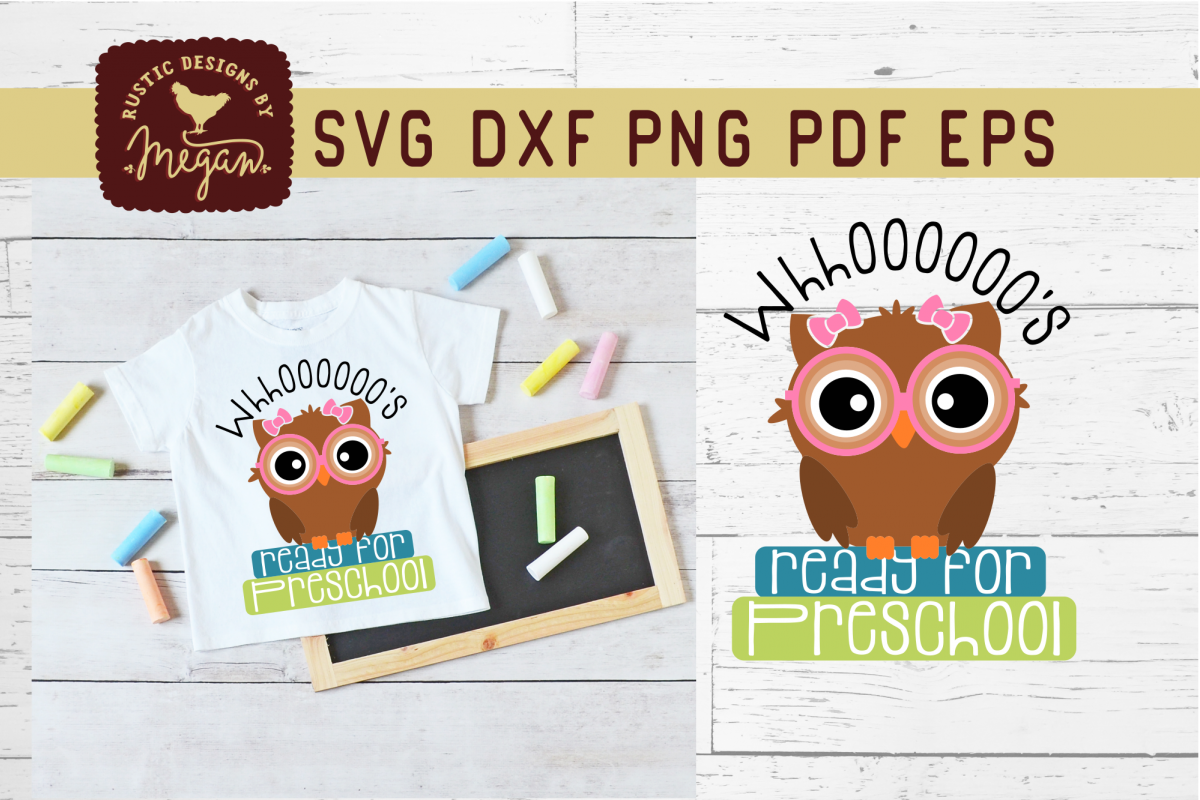 Whooos Ready For Preschool Back To School Owl SVG example image 1