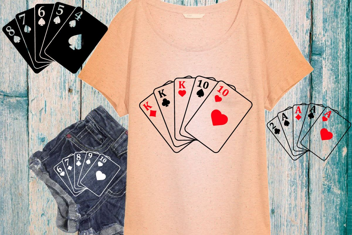 Poker Full House Straight Flush Four of a Kind Straight 742S example image 1