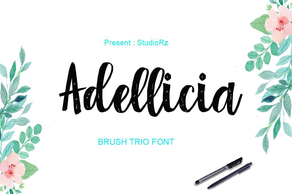 Adellicia Trio Font example image 1