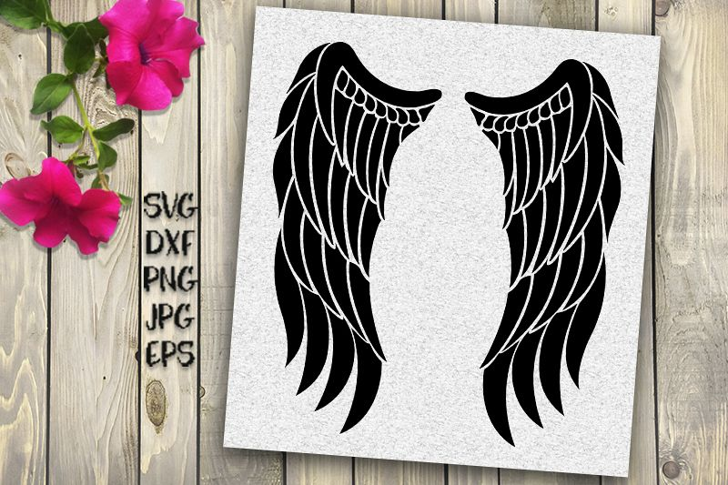 Angel Wings Svg Iron On Example