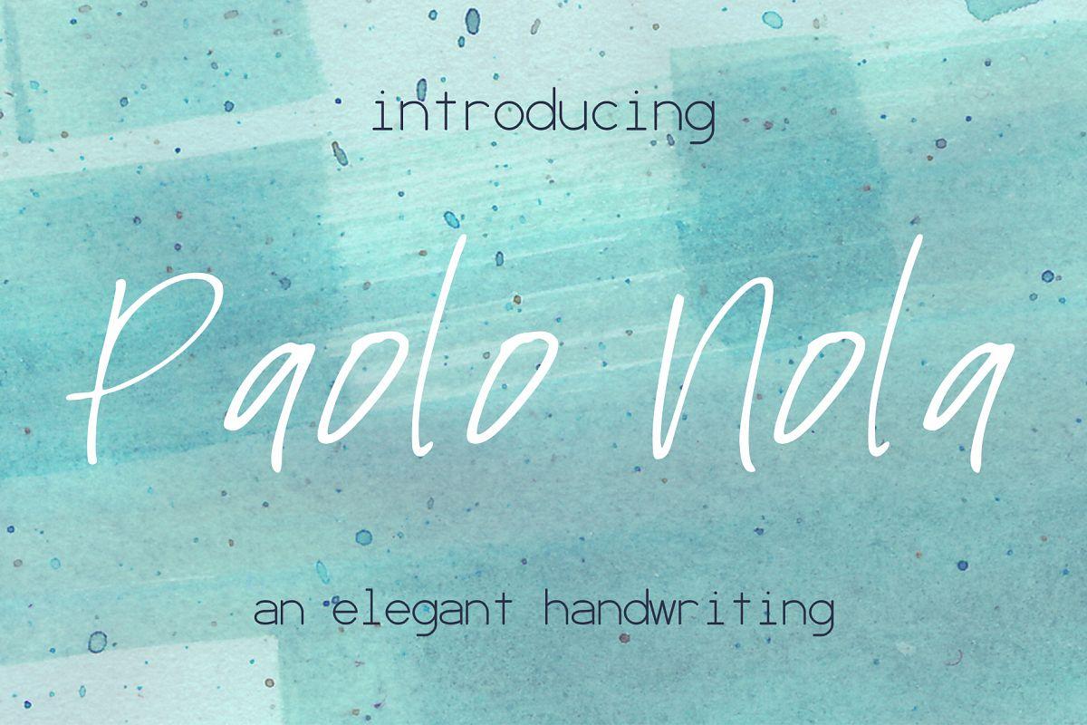 Paolo Nola Font example image 1