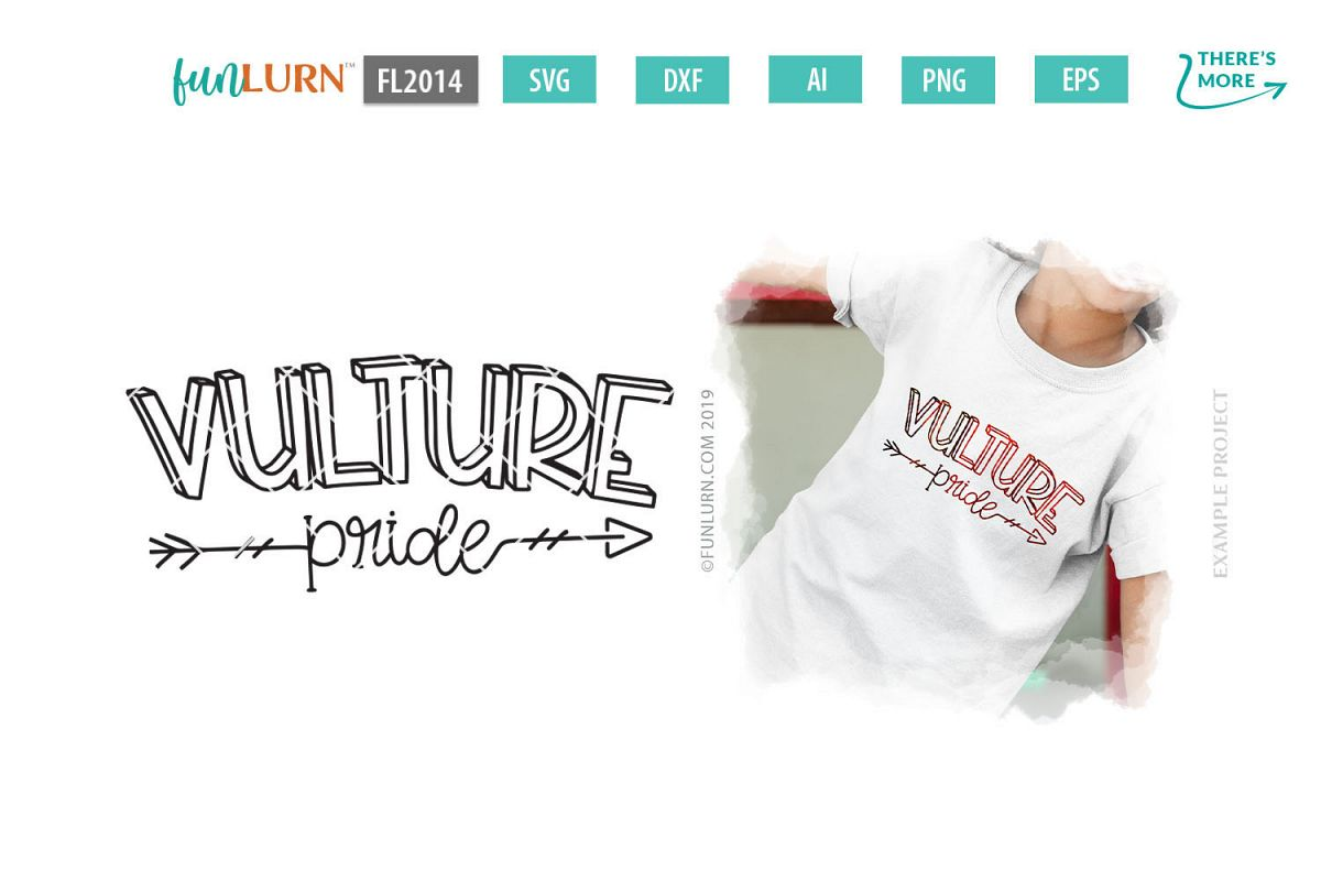Vulture Pride Team SVG Cut File example image 1