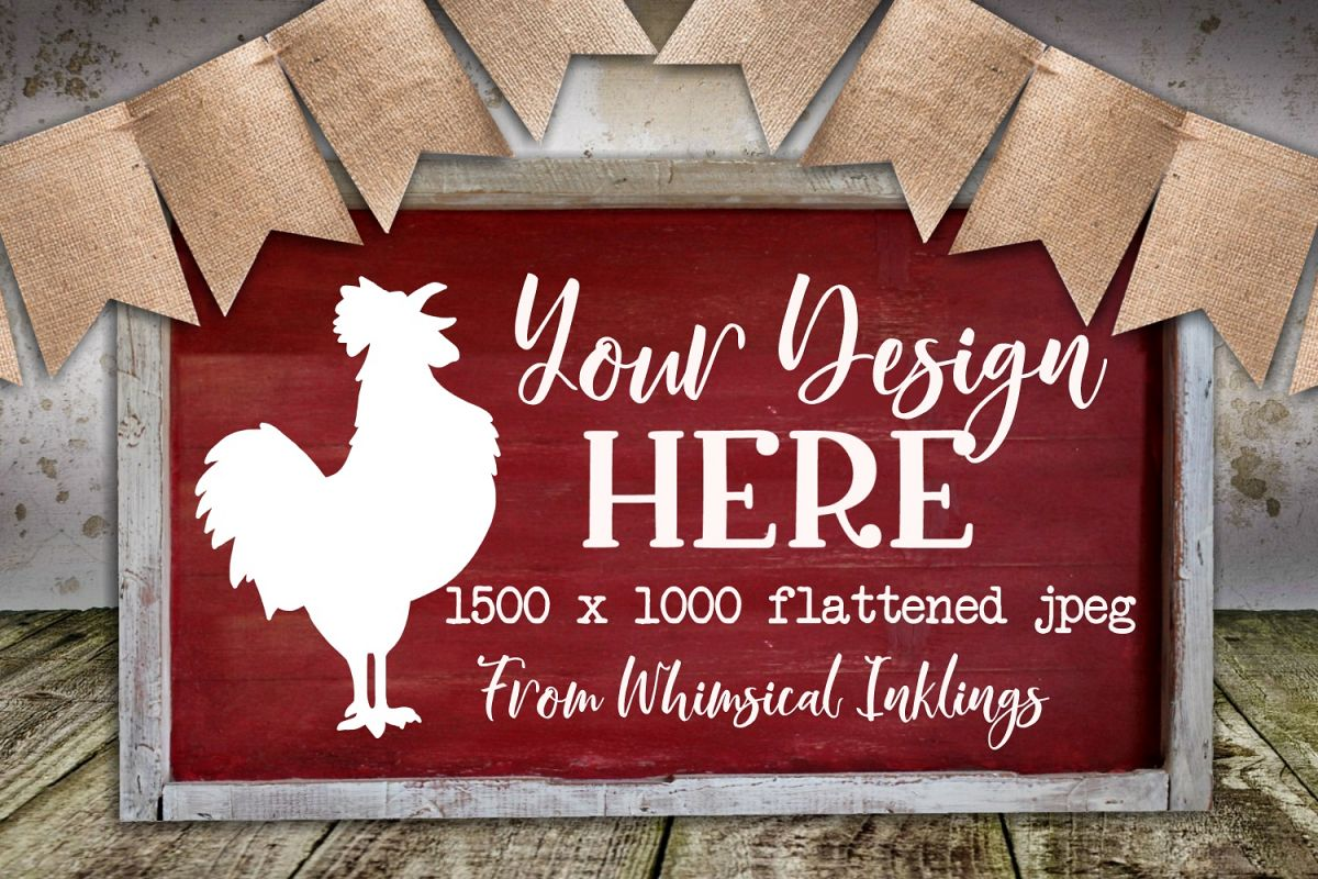 Simple Farmhouse Sign Mock Up example image 1