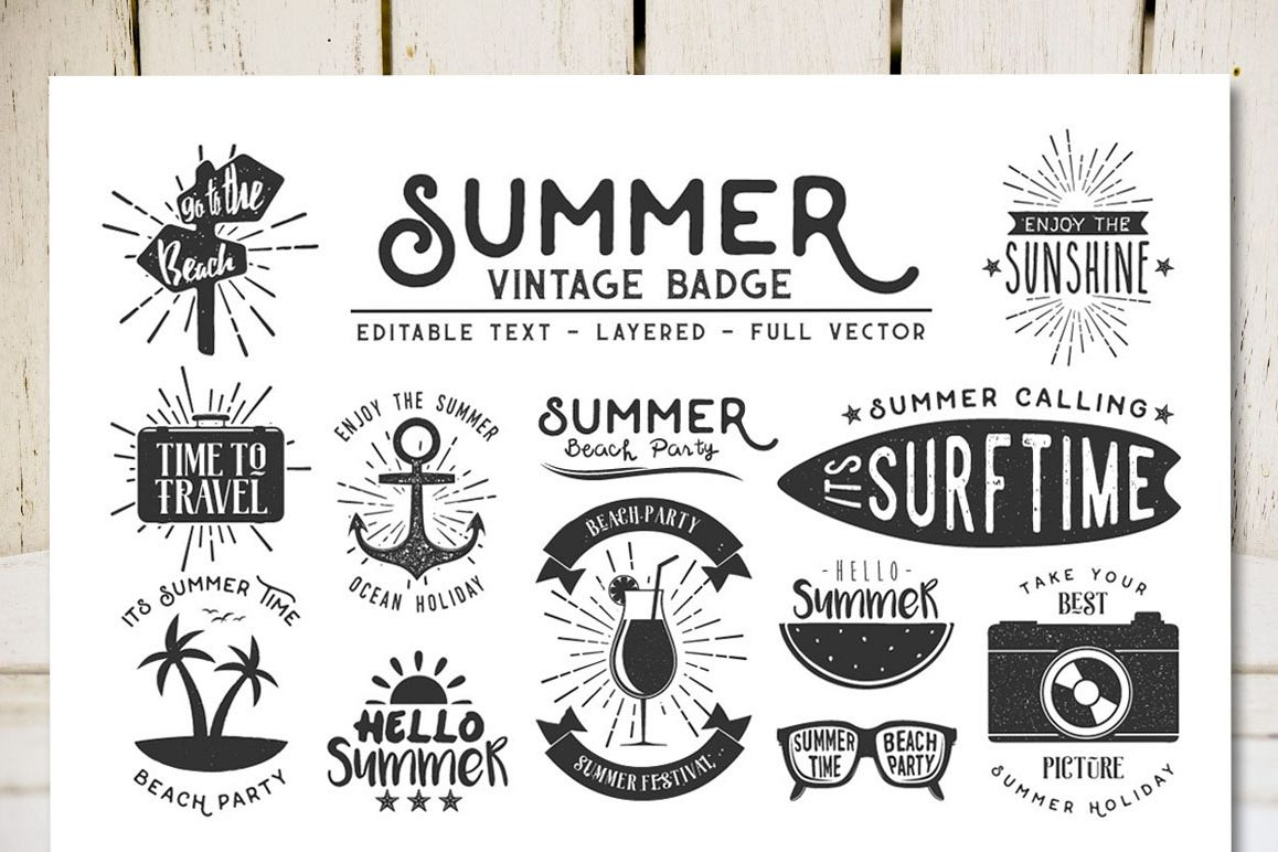 f568dfd4807 Summer Vintage Badge example image 1