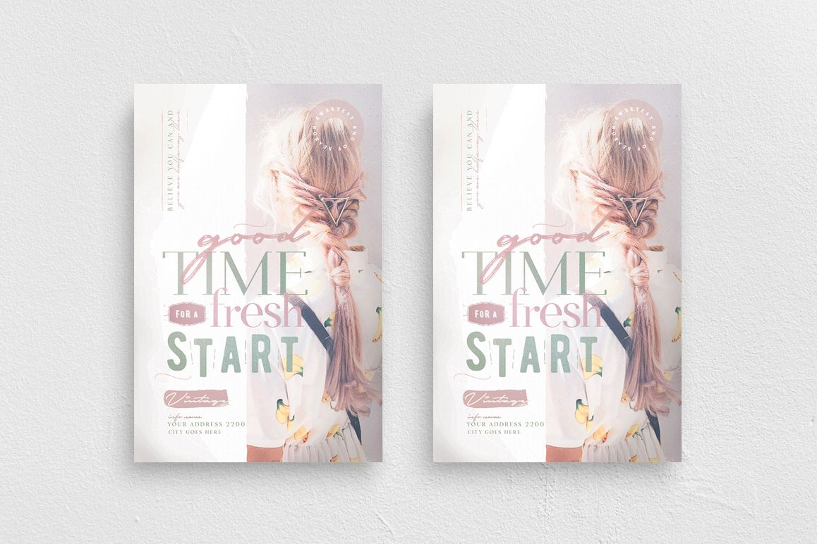 A Good Time For A Fresh Start Flyer Template example image 1