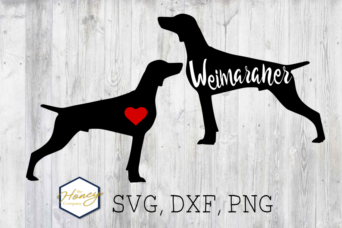 Weimaraner SVG PNG DXF Dog Breed Lover Cut File Clipart example image 1