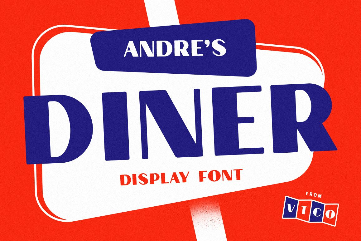 Andre's Diner Display Font example image 1