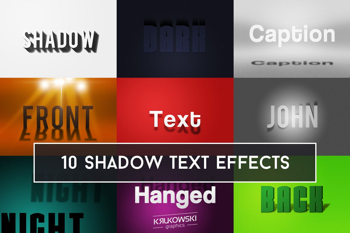 Shadow Text Effect Mockup example image 1