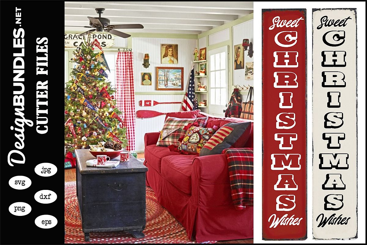 Sweet Christmas Wishes Vertical SVG example image 1