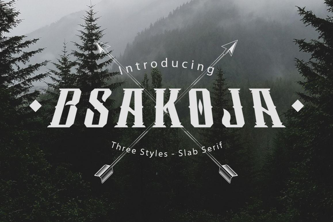 Bsakoja Typeface example image 1