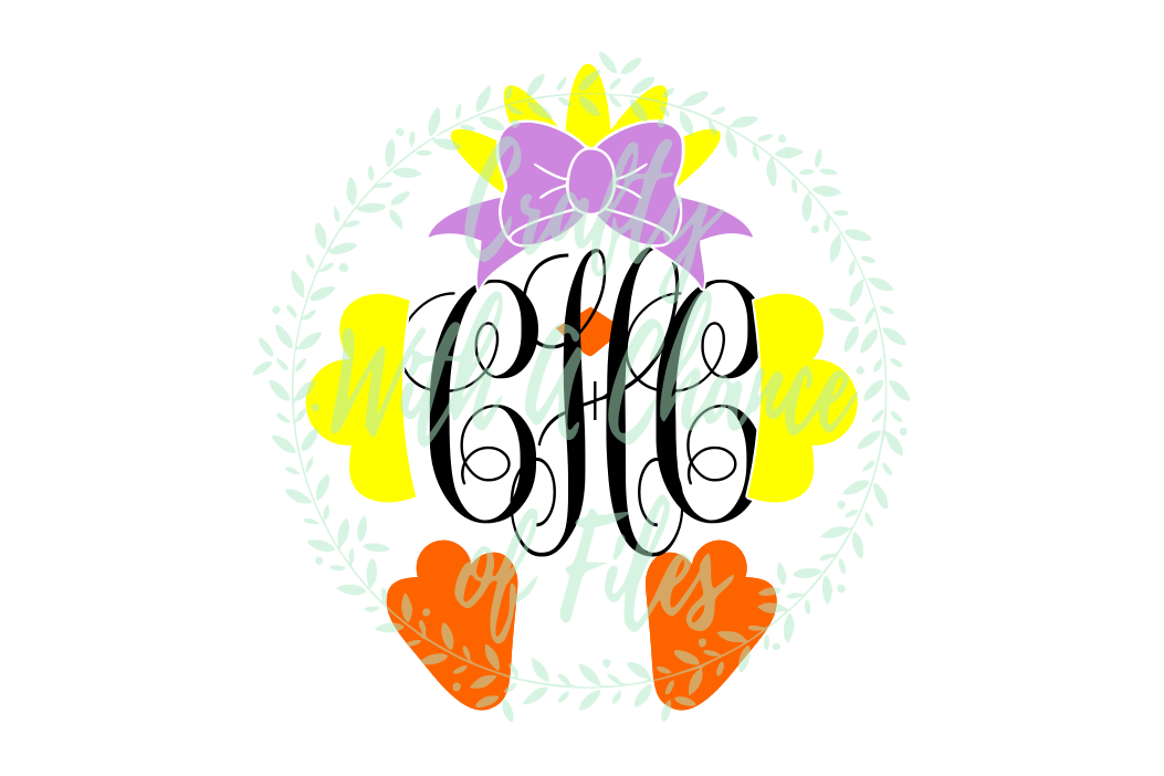 Girl Chick Monogram SVG - Easter Design example image 1