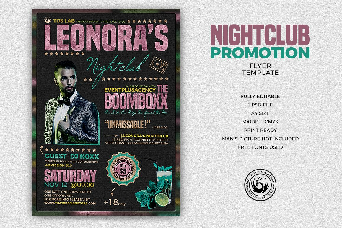 Nightclub Promotion Flyer Template example image 1