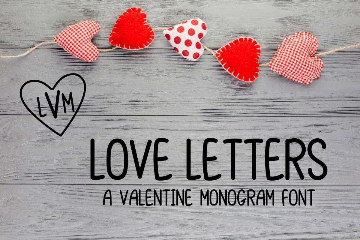 Love Letters - A Valentine Monogram Font example image 1