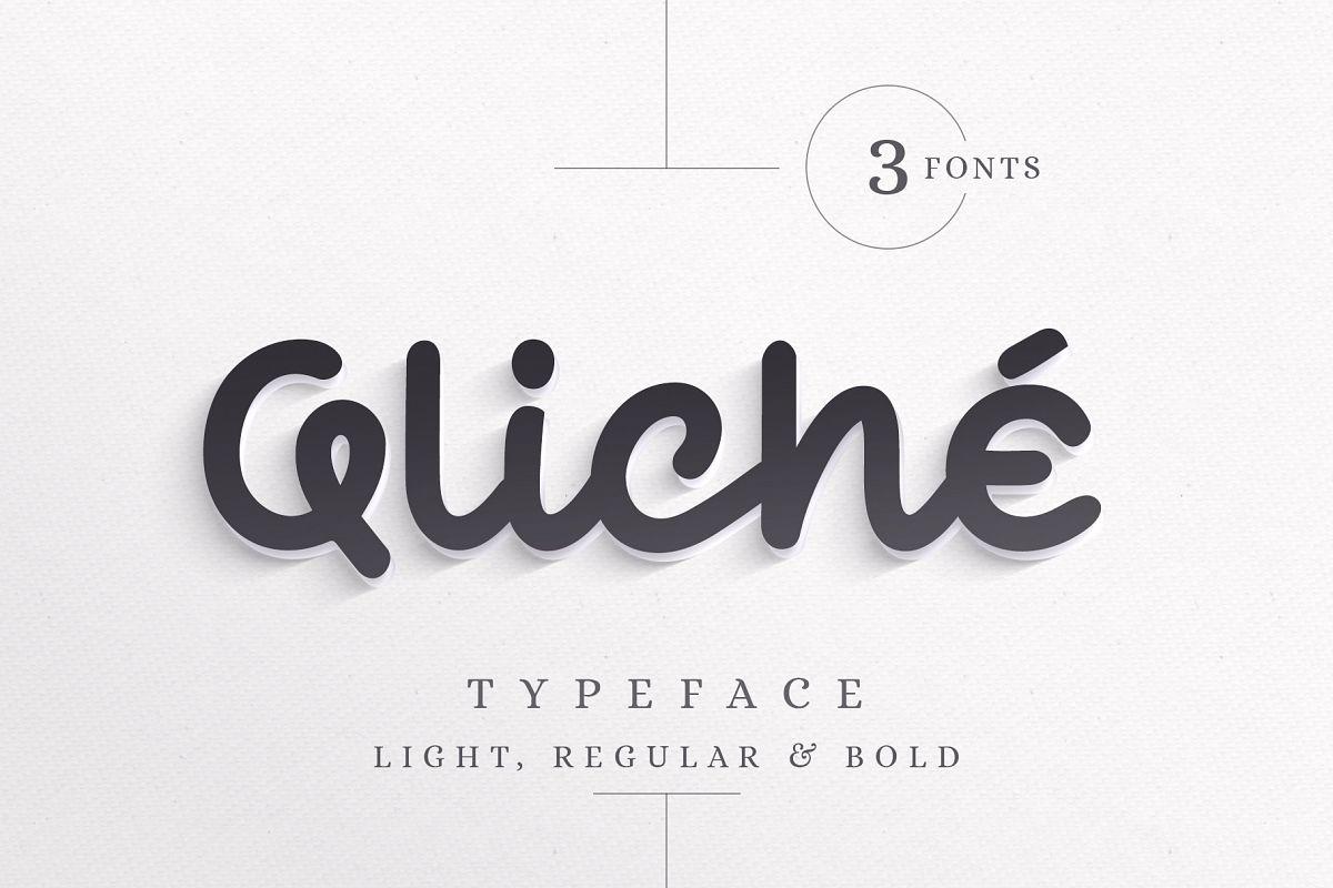 Qliché Typeface example image 1