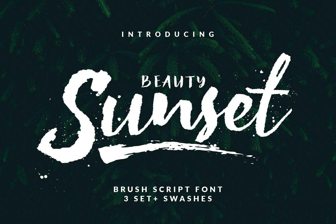 Beauty Sunset + Swashes example image 1