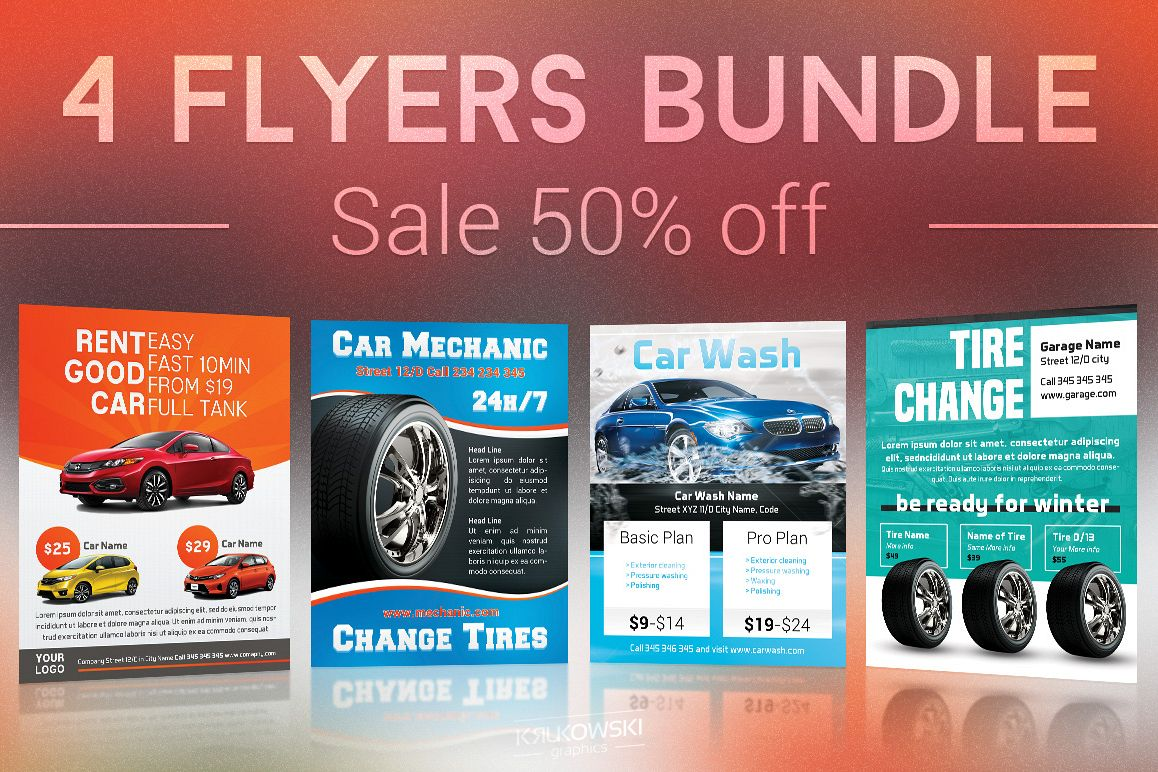 Cars Flyers Bundle example image 1