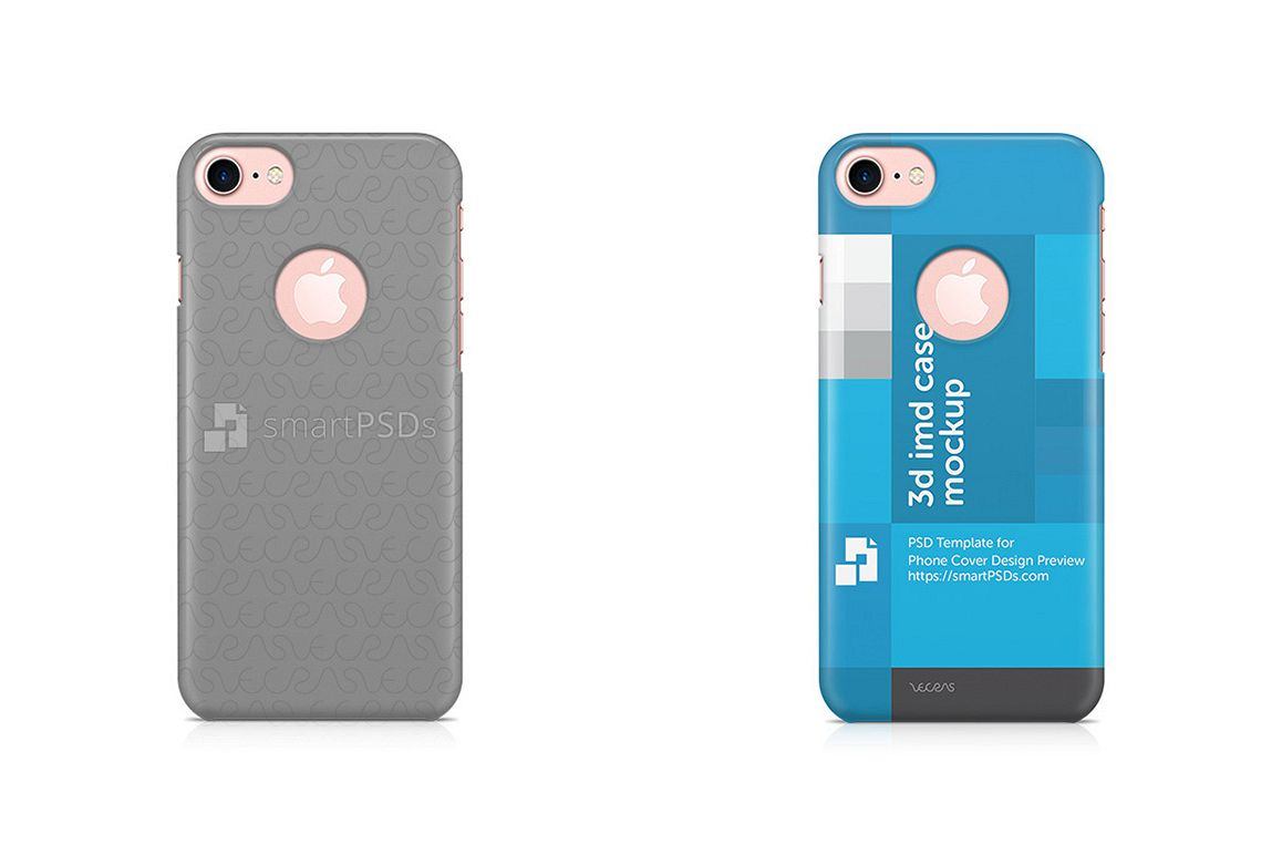 Apple iPhone 7 With Hole 3d IMD Mobile Case Design Mockup 2016 example image 1