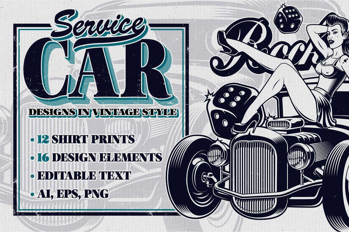 Car Service Vector Designs example image 1