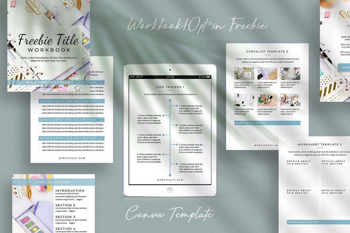 Workbook or Opt-in Freebie Canva Template | Colfax example image 1