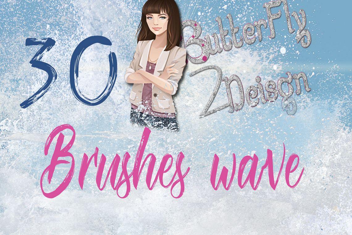 30 sea waves brushes example image 1