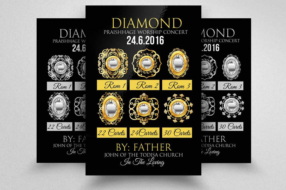diamond jewellery shop promotion flyer