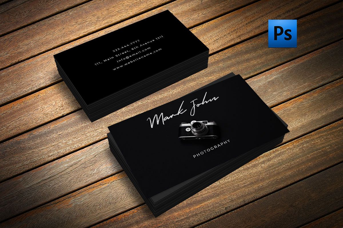 beautiful photography business card example image 1