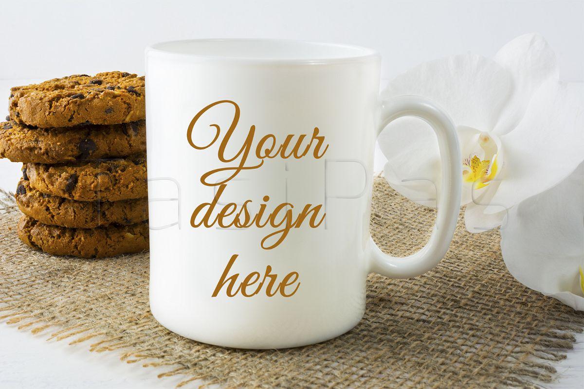 Coffee mug mockup with cookies example image 1