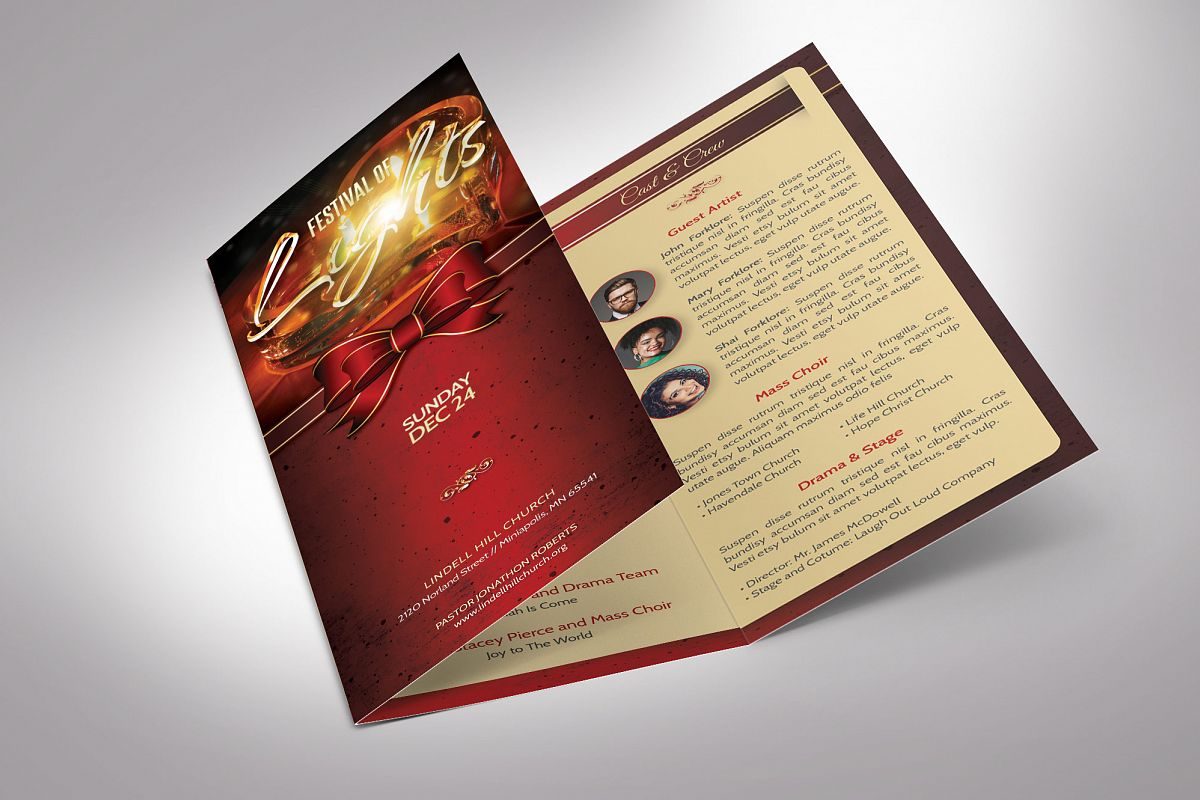 Candle Light Tri-fold Brochure example image 1