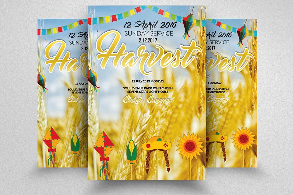 harvest festival flyer example image