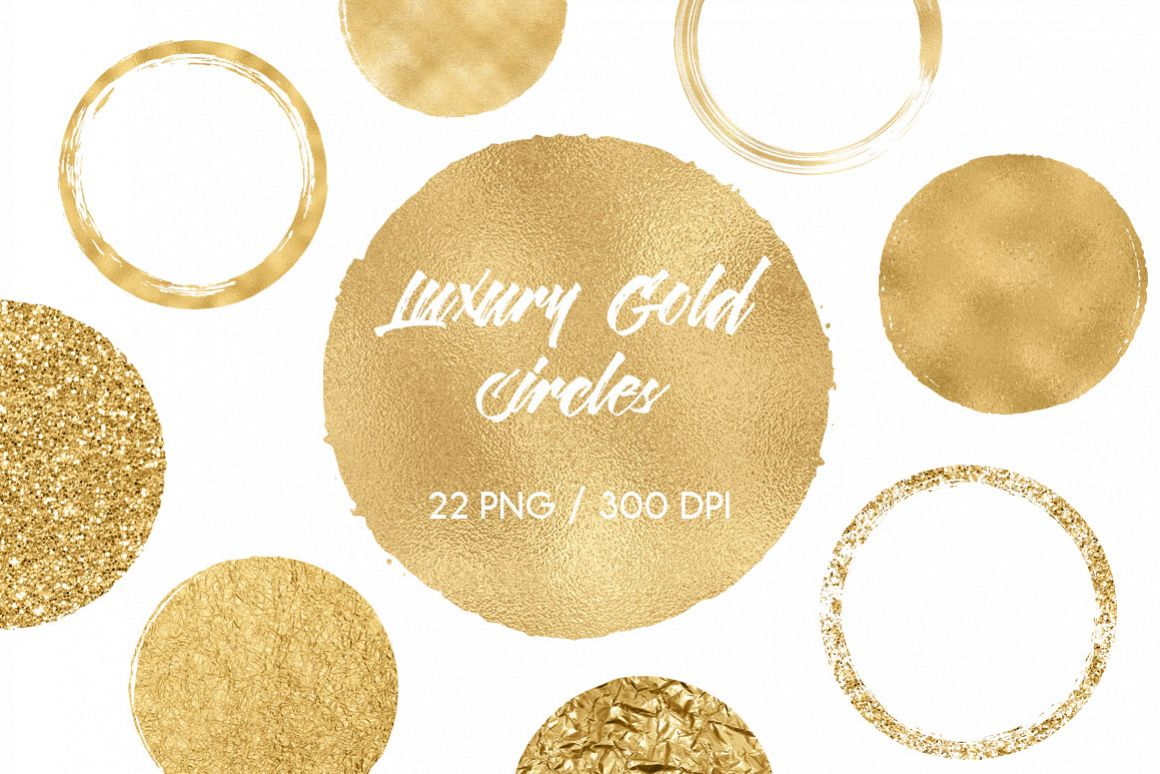 Luxury Gold Circles Clip Art example image 1