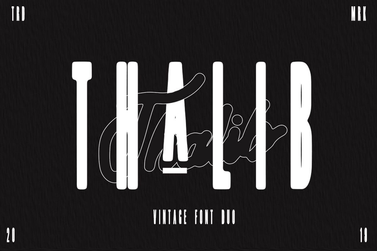 Thalib - Font Duo example image 1
