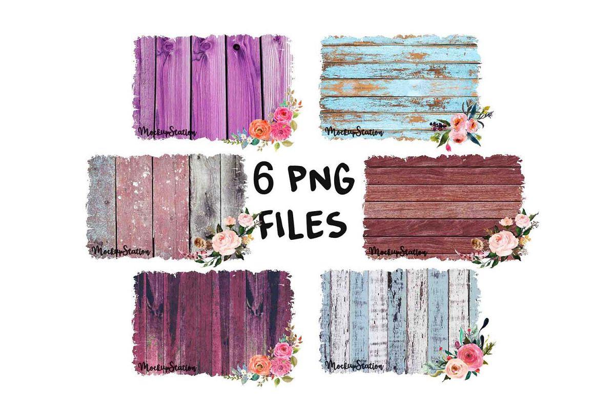 Sublimation Wood Background PNG Bundle, Frame Clip Art example image 1