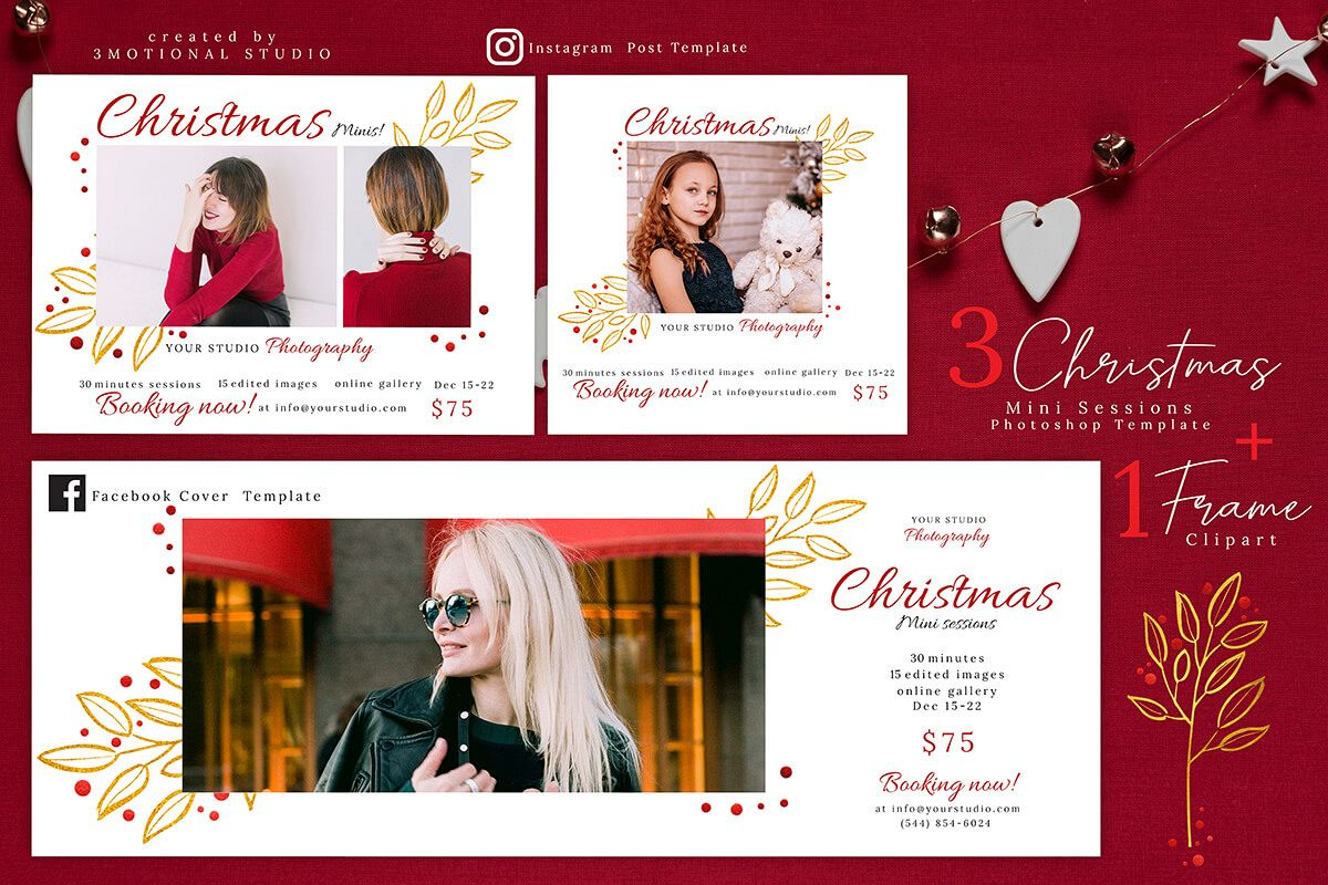 Christmas Mini Sessions Template 04 example image 1