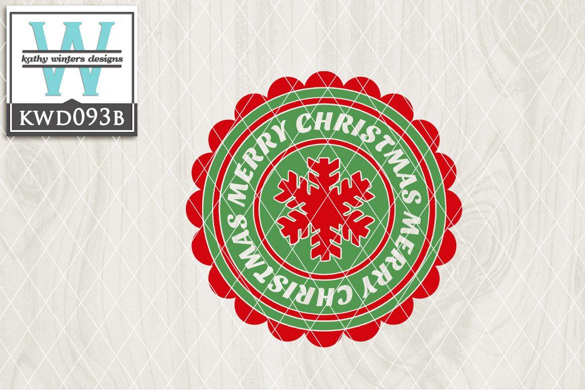 Christmas Cutting File KWD093B example image 1