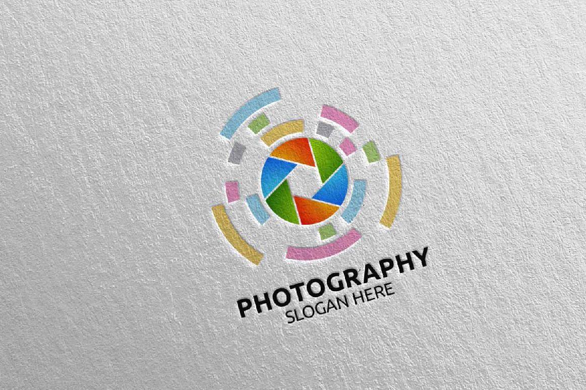 Abstract Camera Photography Logo 16 example image 1
