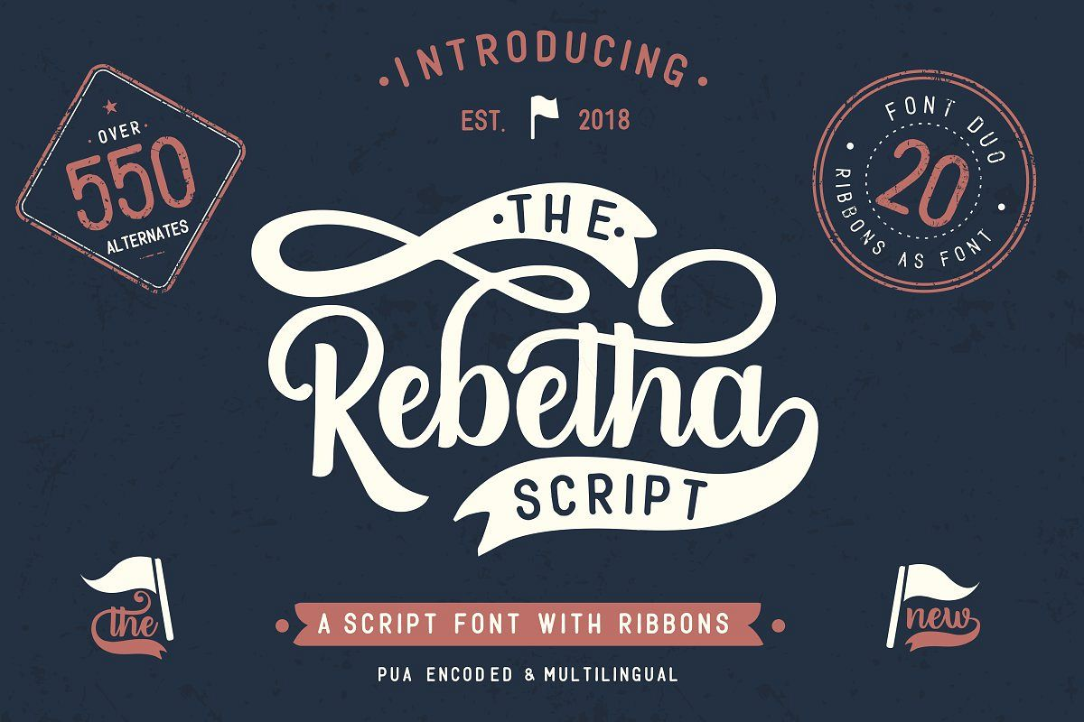 Rebetha Font DUO and extras example image 1