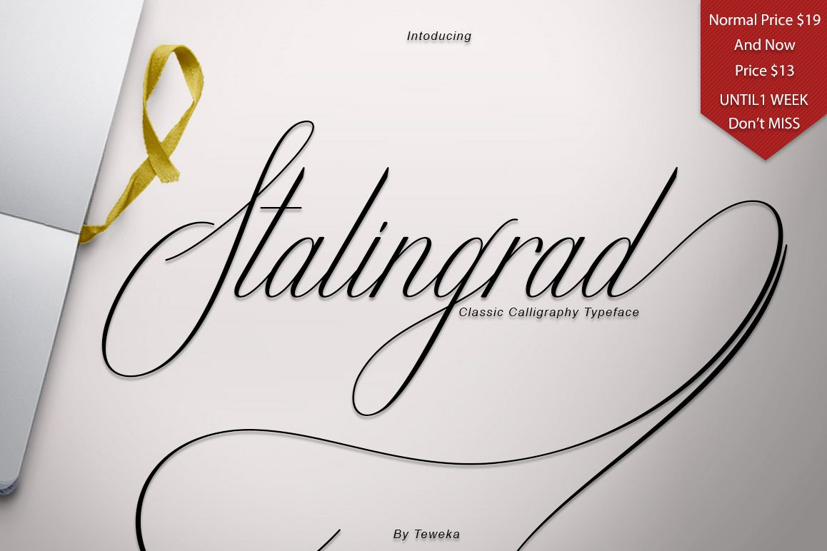 Stalingrad Classic Calligraphy example image 1