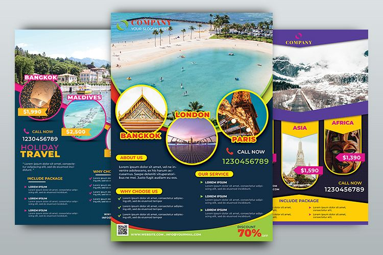 Travel Agency Flyer Template example image 1