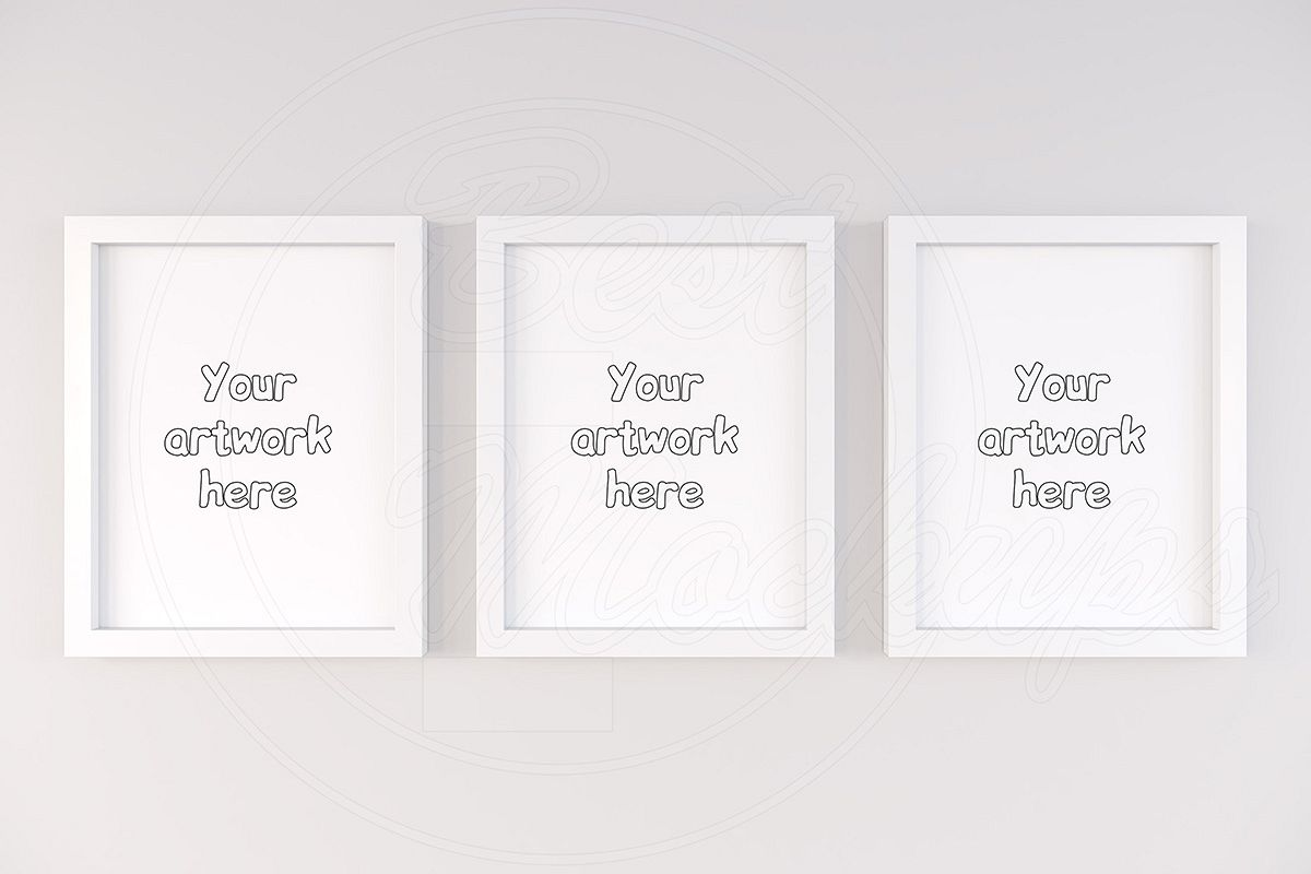 Three basic frame mockup 11x14 inch example image 1