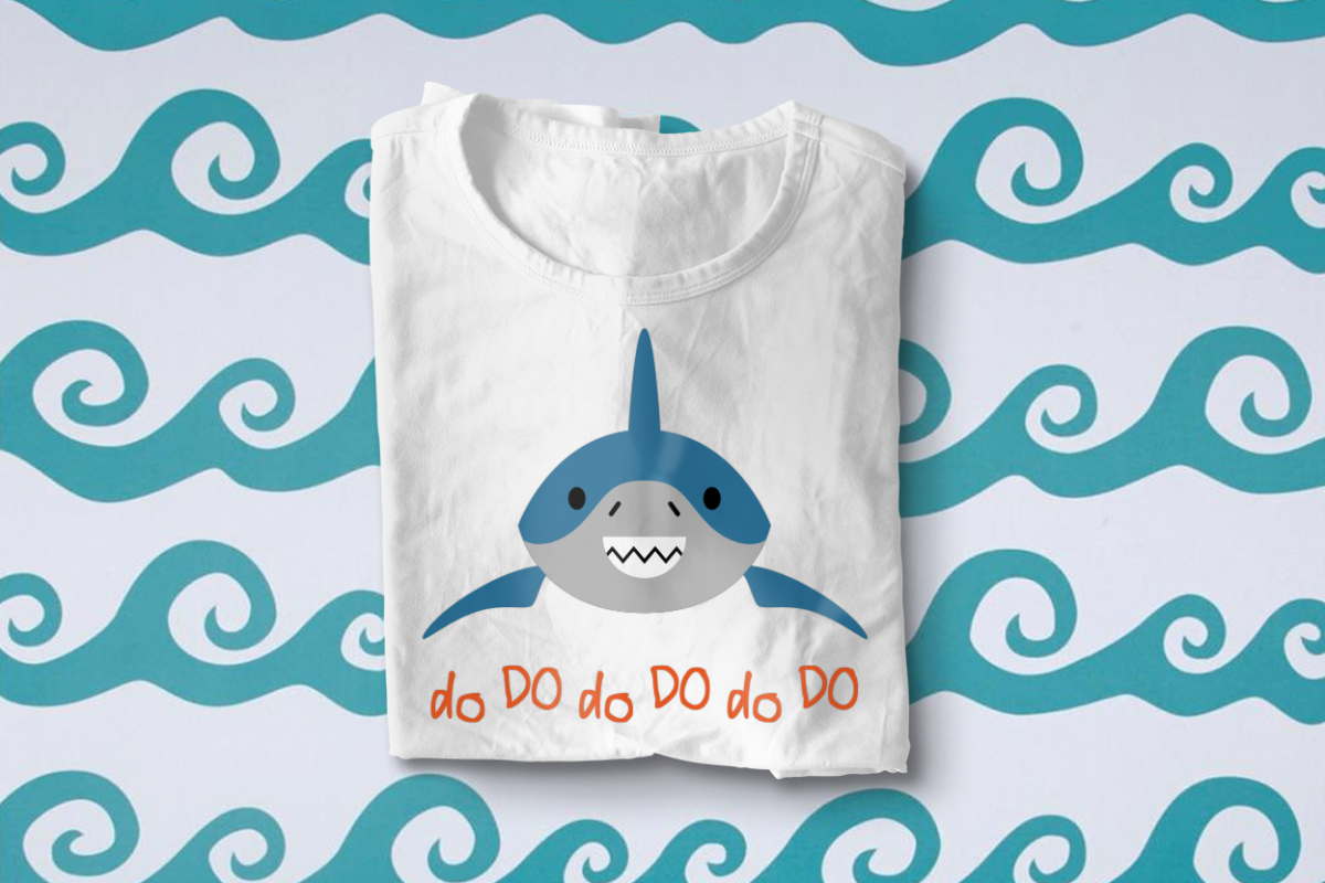 Smiling Shark SVG File Cutting Template example image 1