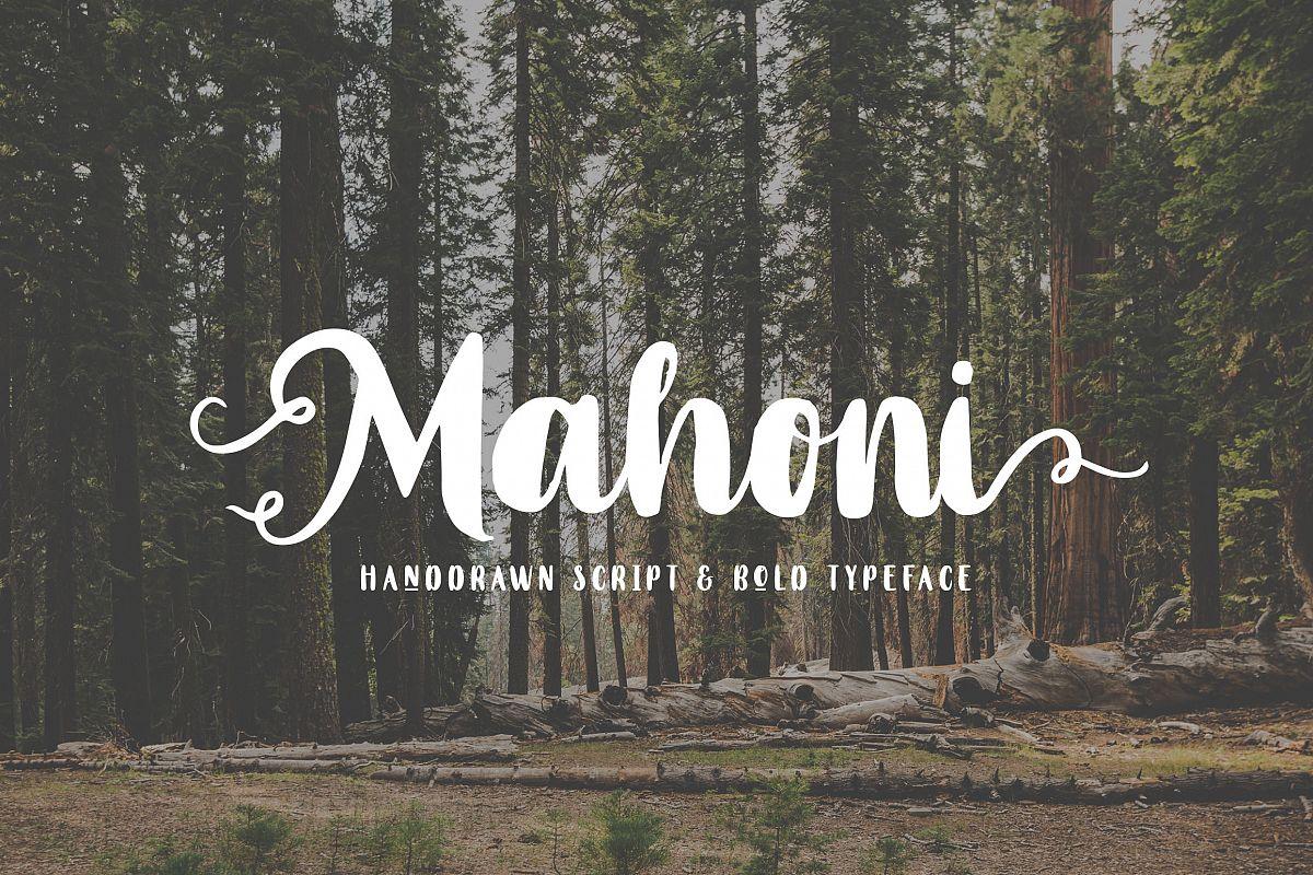 Mahoni - Script & Bold font example image 1