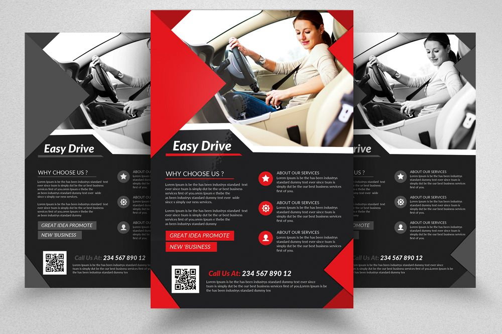 Driving Learning School Flyer  example image 1