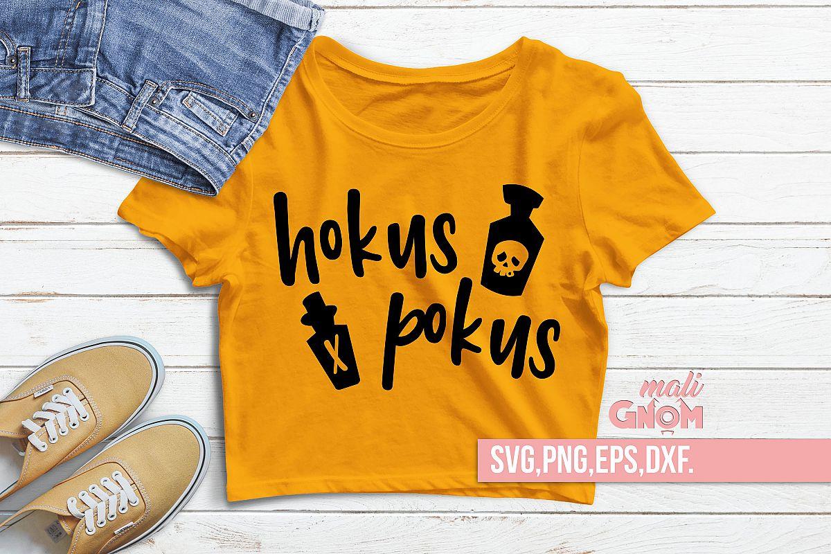 Hokus Pokus SVG, Halloween SVG file, Trick or Treat Bag SVG example image 1