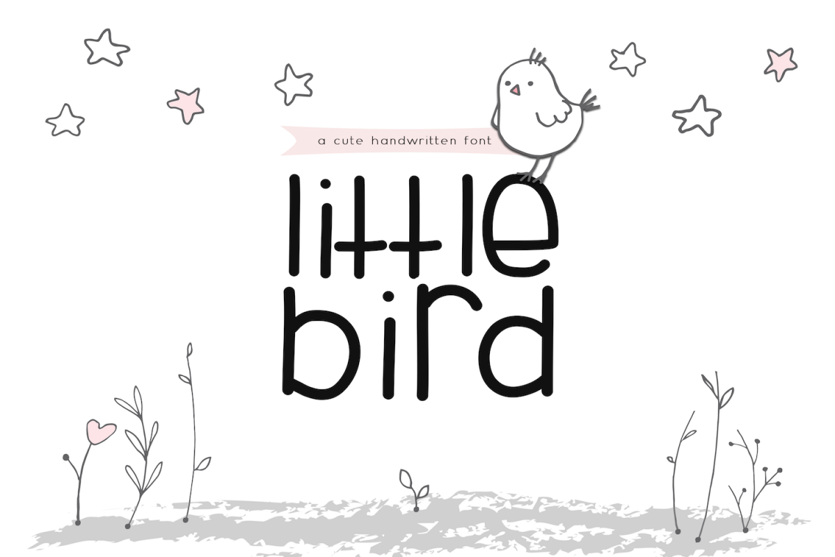 Little Bird - A Cute Handwritten Font example image 1