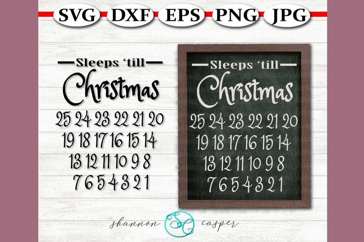 Christmas Advent Calendar SVG example image 1