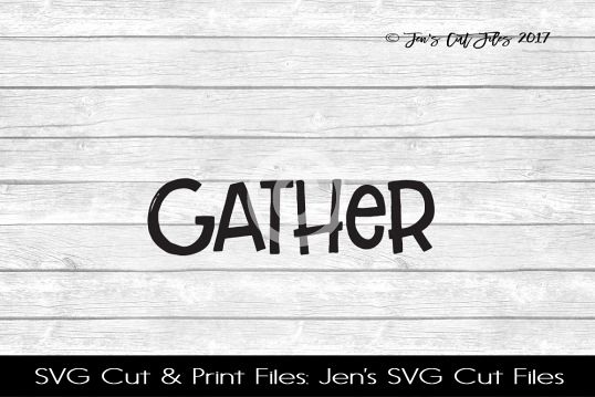 Gather SVG Cut File example image