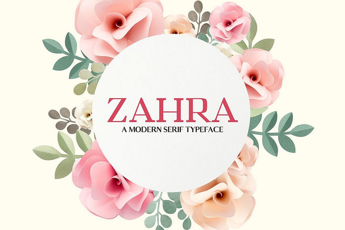 Zahra Serif 4 Font Family Pack example image 1