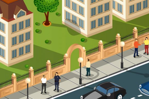 Urban vector illustration example image 1